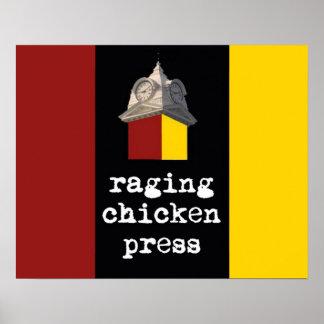 2012 Raging Chicken Press design poster