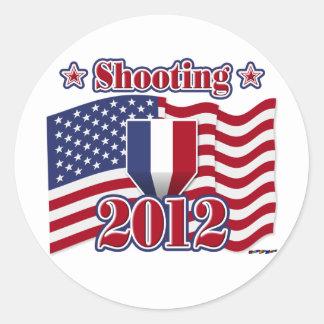 2012 Shooting Round Sticker