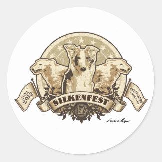 2012 Silkenfest logo sticker Sandra Meyer