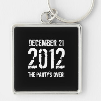 2012 Silver-Colored SQUARE KEY RING