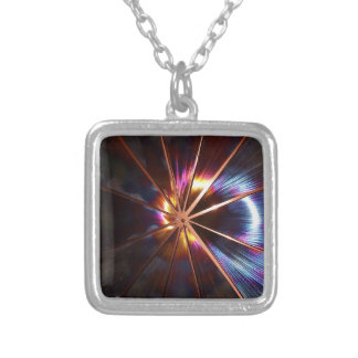 2012 STARBURST SILVER PLATED NECKLACE