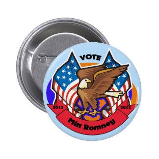 2012 Vote for Mitt Romney Pinback Buttons