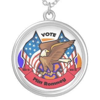 2012 Vote for Mitt Romney Round Pendant Necklace