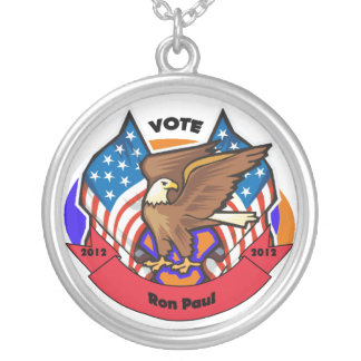 2012 Vote for Ron Paul Round Pendant Necklace