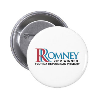 2012 Winner Florida Primary 6 Cm Round Badge