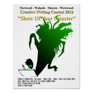 "2012 Youth Writing Contest ""Show Us Your Monster"" Poster"
