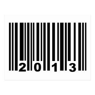 2013 barcode postcard