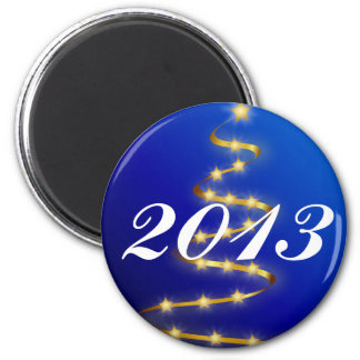 2013 Blue, Gold Christmas Tree Magnet