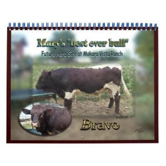 2013 Bravo Bull Calendar-Special order-changes N/A Wall Calendars