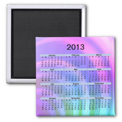 2013 Calendar Abstract Rainbow Magnet