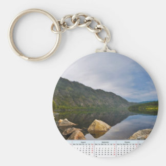 2013 CALENDAR BASIC ROUND BUTTON KEY RING