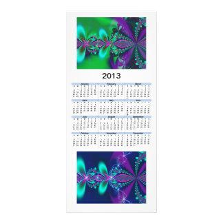 2013 Calendar Blue & Green Fractals Customized Rack Card