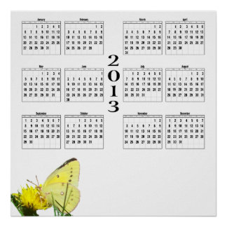 2013 Calendar - Butterfly Posters