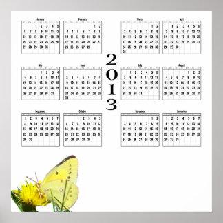 2013 Calendar - Butterfly Posters