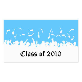 2013 Cap & Gown Graduation Status Card (aqua) Pack Of Standard Business Cards