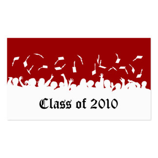 2013 Cap & Gown Graduation Status Card (red) Pack Of Standard Business Cards
