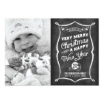 2013 CARD LINK BELOW | Chalkboard 2012 Christmas 13 Cm X 18 Cm Invitation Card