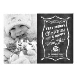 2013 Chalkboard Typography Christmas Flat Card