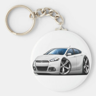 2013 Dodge Dart White Car Key Ring
