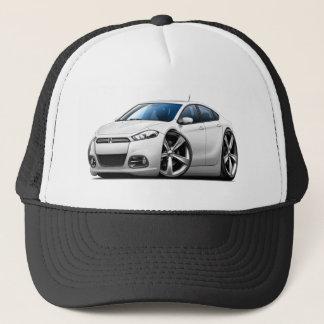 2013 Dodge Dart White Car Trucker Hat