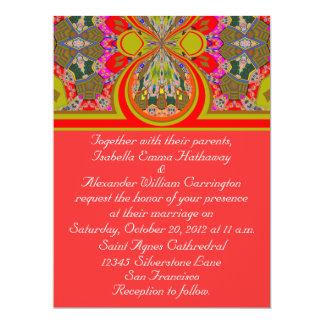 2013 Elegant Red Personalized Wedding Invitation