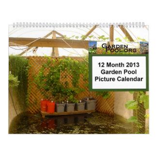 2013 Garden Pool Calendar -  Large