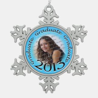 2013 Graduate Photo Pewter Snowflake Decoration