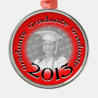2013 Graduate Red Photo Christmas Ornament