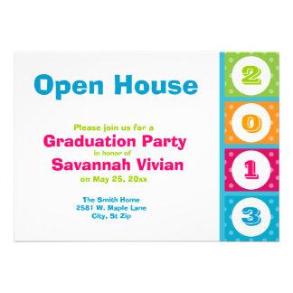 2013 Graduation Party Open House Invitations