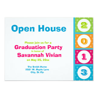 2013 Graduation Party Open House Invitations