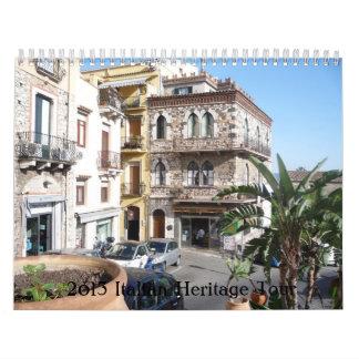2013 Italian Heritage Tour Wall Calendar