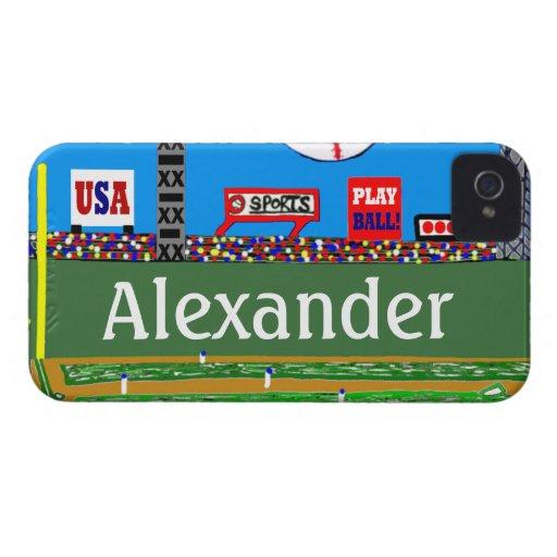 2013 Kids Baseball Custom iPhone 4 & 4s Case Gift Case-Mate iPhone 4 Case