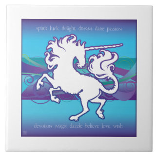 2013 Mink Nest Inspirational Unicorn 6x6 Tile Wht