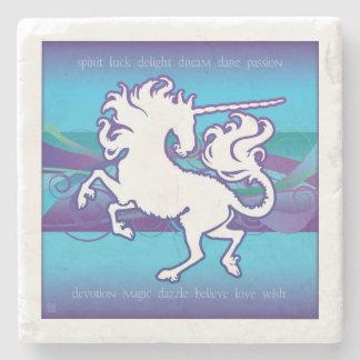 2013 Mink Nest Inspirational Unicorn Stone Coaster