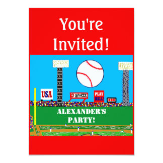 2013 Personalized Kids Sports Birthday Invitation