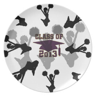 2013 purple gold party plate