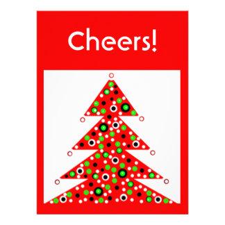 2013 Red Custom Christmas Holiday Party Invitation