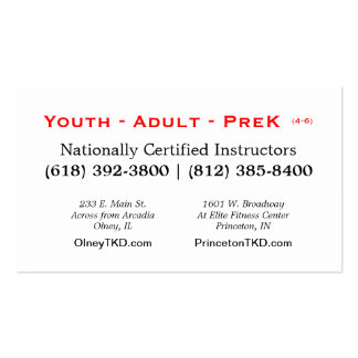 2013 TKD card Business Card