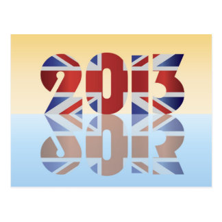 2013 UK England Union Jack Flag Postcard