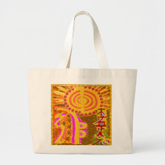 2013 ver. REIKI Healing Symbols Jumbo Tote Bag