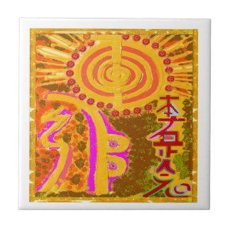 2013 ver. REIKI Healing Symbols Small Square Tile