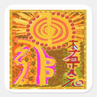 2013 ver. REIKI Healing Symbols Square Sticker