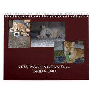 2013 Washington D.C. Shiba Inu Wall Calendar