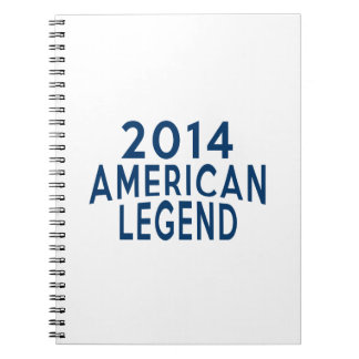 2014 American Legend Birthday Designs Note Books