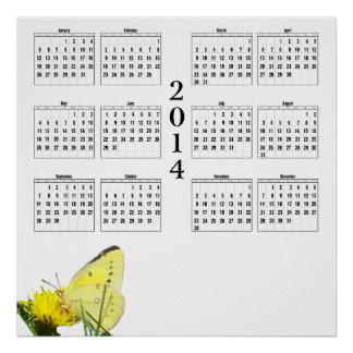 2014 Calendar - Butterfly Posters