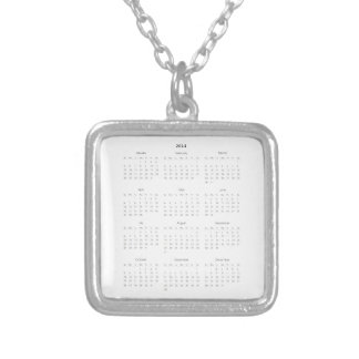 2014 Calendar Gifts Square Pendant Necklace