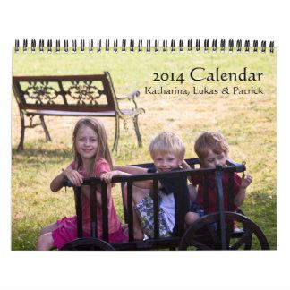 2014 Calendar: Katharina, Lukas & Patrick Wall Calendar