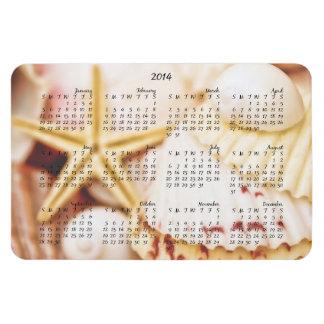 2014 Calendar Pretty Seashells Magnet
