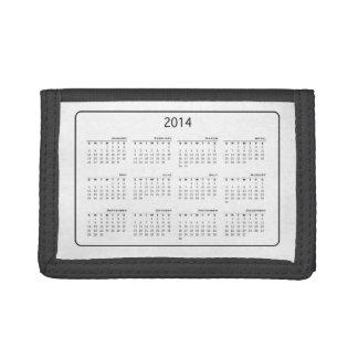 2014 Calendar Wallet