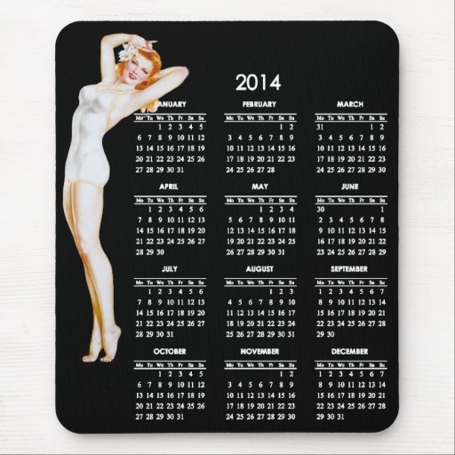 Pin Up Calendar Vintage : Calendar with vintage pin up girl zazzle